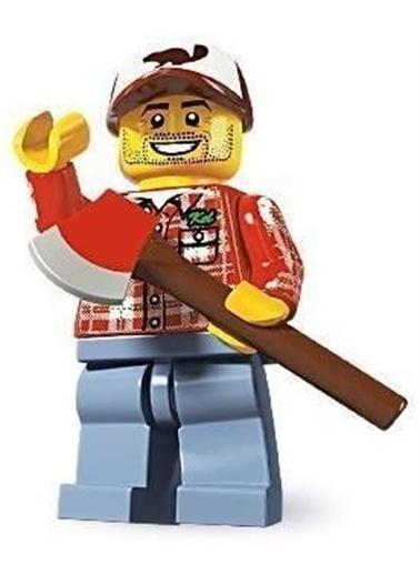 Lego Lego Minifigür - Seri 5 - 8805 - Lumberjack Renkli